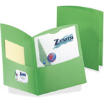 Pendaflex Contour Portfolio with Two Pockets, Green, Box of 25