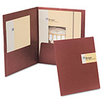Esselte Custom Card Folios, Red, Pack of 4