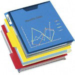 Esselte Pendaflex PileSmart® PileSmart® 75 Sheet View Binder, Assorted Colors