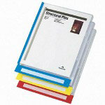 Esselte QuickView Clear File Jackets with Primary Color Tabs, Expand, 6/Pack