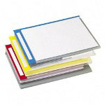 Pendaflex PileSmart QuickView Clear File Jackets with Primary Colored Write on Tabs, 6/Pack