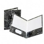 Pendaflex Two Pocket Portfolio, Marble Design, Box of 25