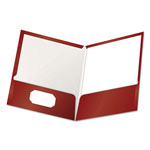 Pendaflex Two Pocket Portfolio, Red, Box of 25