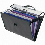 Pendaflex six pocket foldout expanding file with hanger & carry case, legal size