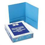 Pendaflex Two Pocket Portfolio, Blue, Box of 25