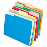 Esselte DoubleStuff File Folders, 1/3 Cut, Legal, Assorted, 50/Pack