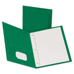 Pendaflex Two Pocket Portfolio, Green, Box of 25