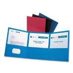 Esselte Tri-fold Pocket Folder, Blue, Box of 20