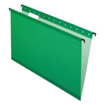 Esselte Hanging File Folders, Legal, 1/5 Tab, Bright Green, 20/Box