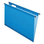 Esselte Hanging File Folders, Legal, 1/5 Tab, Blue, 20/Box