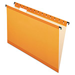 Esselte Hanging File Folders, Legal, 1/5 Tab, Orange 20/Box