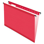 Esselte Hanging File Folders, Legal, 1/5 Tab, Red, 20/Box
