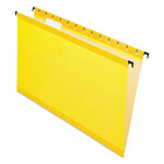 Esselte Hanging File Folders, Legal, 1/5 Tab, Yellow, 20/Box