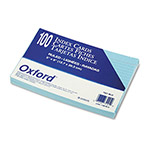 Oxford Ruled Index Cards, 5 x 8, Blue, 100/Pack