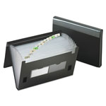 Pendaflex Poly Expanding File/Velcro Closure, 13 Pocket/Insertable Tabs, Letter, Black