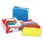 Esselte Grid File Folders, Top Tab, 1/3 Cut/Assorted, Asstd Colors, Letter