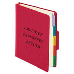 Pendaflex Classification Style Vertical Personnel Folders, Recycled, Red