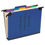Pendaflex Personnel Folders, 1/3 Cut Hanging Top Tab, Letter, Blue