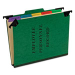 Pendaflex Classification Personnel Folders, Hanging, Pivoting Hangers, Recycled, Green