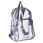 Eastsport Backpack, PVC Plastic, 12 1/2 x 17 1/2 x 5 1/2, Clear