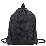 Eastsport Front Mesh Pocket Drawstring Cinch Sack, Black