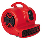 Electrolux Commercial Three-Speed Air Mover, 1/2 hp Motor, 20 Ibs, Red/Black