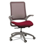 Eurotech Hawk Mesh-Back Chair, Burgundy/Black