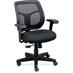 Eurotech Apollo Mid-Back Mesh Chair, Black Seat/Black Back