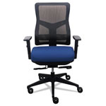 Tempur-Pedic® 200 Mesh-Back Multifunction Chair, Navy Fabric Seat/Black Mesh Back