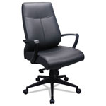 Tempur-Pedic® 300 Leather High-Back Chair, Black Leather Seat/Back