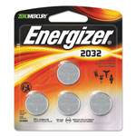 Energizer Watch/Electronic/Specialty Battery, 2032, 3V, 4/Pack