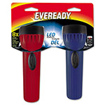 Energizer Led Economy Flashlight, 8X Long Run Time, 2/PK, RD/BE
