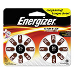 Energizer Hearing Aid Battery, Zero Mercury Coin Cell, 312, 1.4V