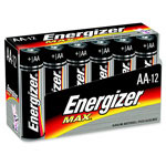 Eveready Alkaline Battery, AA, 12/PK