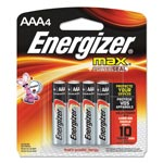 Max® E92BP-4 Alkaline Batteries, AAA