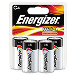 Max® E93BP-4 Alkaline Batteries, C