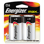 Energizer E95BP-2 Alkaline Batteries, D