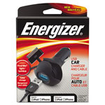 Energizer USB Premium Car Charger, 12V Car Outlet/Apple-Certified Dock Connector