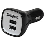 Energizer USB Car Charger, Universal, 2-Port, Red/Black