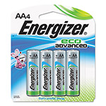 Energizer Eco Advanced Batteries, AA, 4/Pk