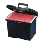 "Stackable File Caddy, 10 1/2"" x 13 1/2"" x 11-1/4"", Black"