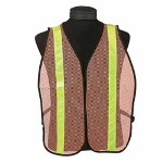 ERB Safety ERB Lightweight Reflective Mesh Safety Vest w/Elastic Side, Orange/Lime
