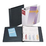 "Samsill Insertable 1"" View Binder, Red"