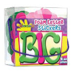 Fibre-Craft Large Foam Letter Sticker Box, 26 Hot Pink/26 Lime Green