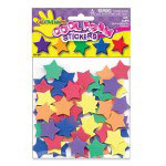 Fibre-Craft Assorted Bright Foam Star Stickers, 120 Pieces