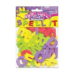 Fibre-Craft Large Capitol Letters Assorted Foam Stickers for Arts & Crafts, 125/Pack
