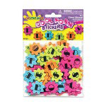 Fibre-Craft 6 Assorted Colors Flower ABC Foam Stickers, 125/Pack