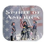 "Fellowes Mouse Pad, ""Spirit of America"", 9"" x 8"" x 1/8"", Red/White/Blue"