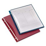 "Cardinal Project Binder Pockets, 11"" x 8 1/2"", Red/Navy"