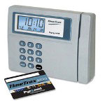 "Pyramid TT950EK Time/Attendance, Ethernet Version, 8"" x 10"" x 5"", silver/blue"